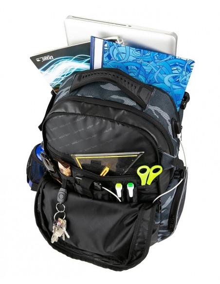 Študentský batoh WIZZARD Camo Blue
