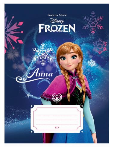 Zošit A5, 513, 10listov Frozen