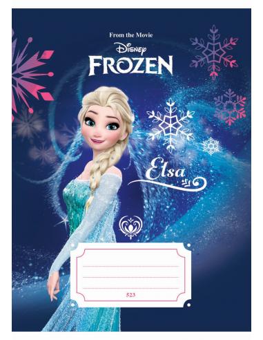 Zošit A5, 523, 20listov Frozen