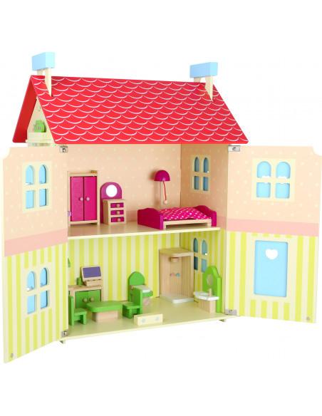 Dřevěný domeček pro panenky s odjímatelnou střechou
