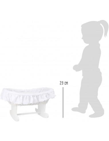 Kolíska pre bábiky Bassinet biela
