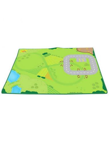 Hrací koberec pre vláčikodráhu