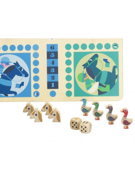 Drevená stolová hra 2v1