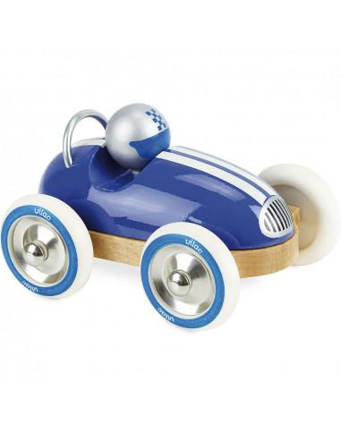 Drevené auto Roadster vintage modré