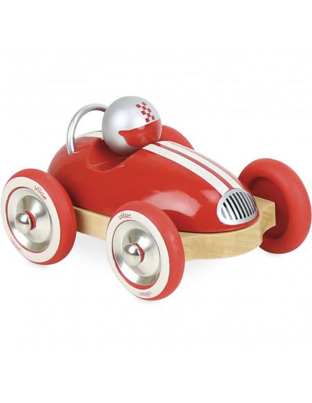 Drevené auto Roadster vintage červené