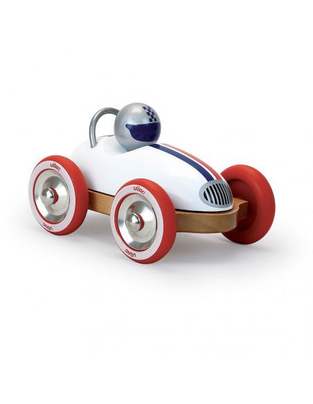 Drevené auto Roadster vintage bielej