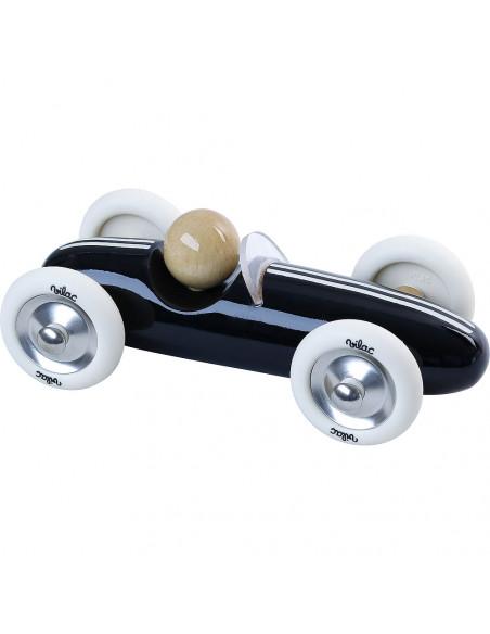 Drevené auto veľké Grand prix vintage čierne