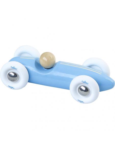 Drevené auto mini Grand prix vintage svetlo modré