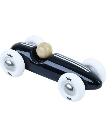Drevené auto mini Grand prix vintage čierne