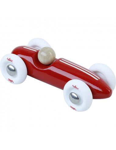 Drevené auto mini Grand prix vintage červené