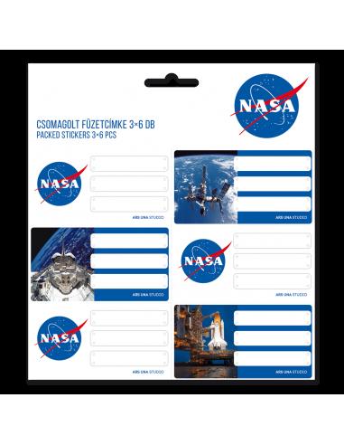 Menovky na zošity NASA 18ks