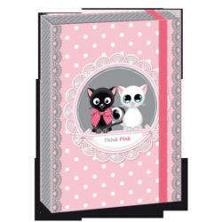 Box na zošity Think Pink kočky A5