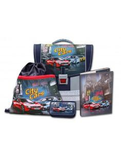 Školský aktovkový set City Cars 4-dielny