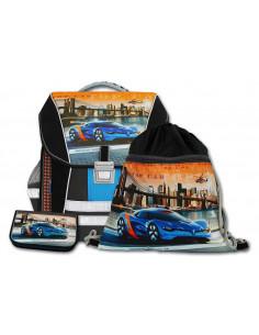 Školský batohový set Top Car 3-dielny